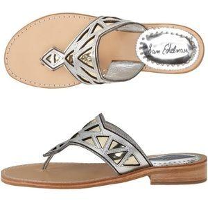 sam edelman metallic thong sandal